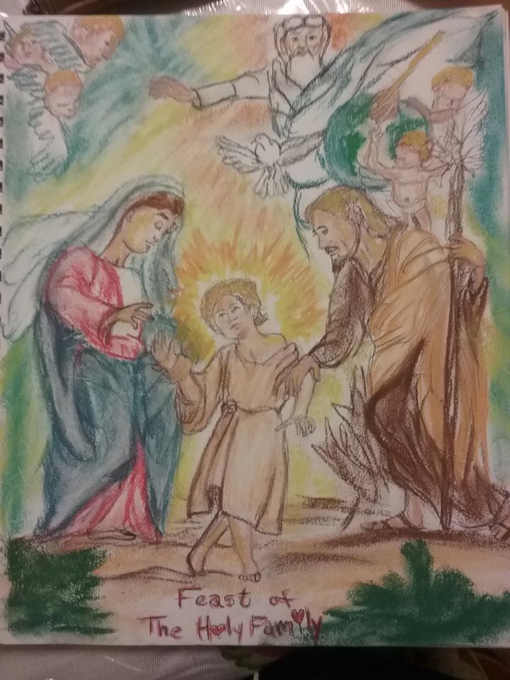 Jesus Christ, Virgin Mary, Saint Joseph par cindykron